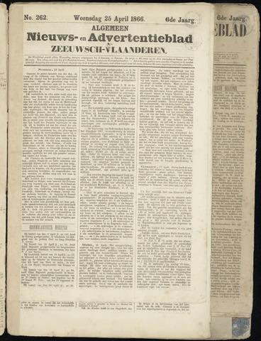 Ter Neuzensche Courant. Algemeen Nieuws- en Advertentieblad voor Zeeuwsch-Vlaanderen / Neuzensche Courant ... (idem) / (Algemeen) nieuws en advertentieblad voor Zeeuwsch-Vlaanderen 1866-04-25