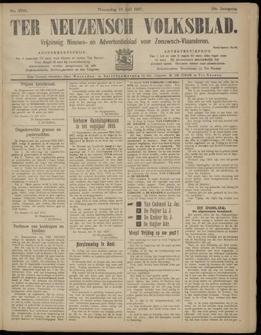 Ter Neuzensch Volksblad. Vrijzinnig nieuws- en advertentieblad voor Zeeuwsch- Vlaanderen / Zeeuwsch Nieuwsblad. Nieuws- en advertentieblad voor Zeeland 1917-07-18