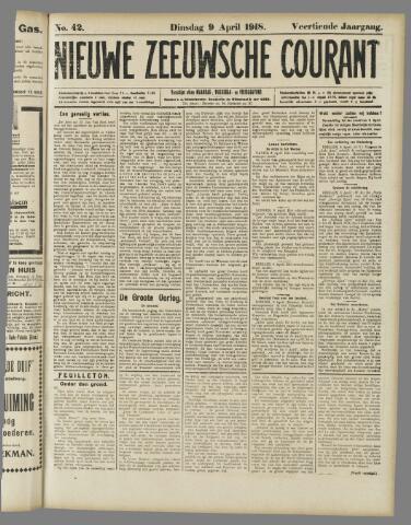 Nieuwe Zeeuwsche Courant 1918-04-09