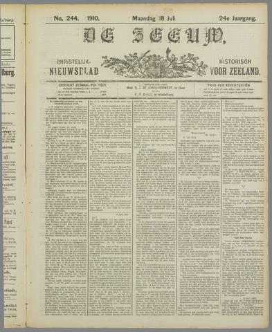 De Zeeuw. Christelijk-historisch nieuwsblad voor Zeeland 1910-07-18