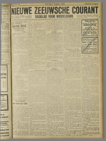 Nieuwe Zeeuwsche Courant 1920-08-07