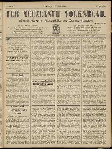 Ter Neuzensch Volksblad. Vrijzinnig nieuws- en advertentieblad voor Zeeuwsch- Vlaanderen / Zeeuwsch Nieuwsblad. Nieuws- en advertentieblad voor Zeeland 1912-02-03