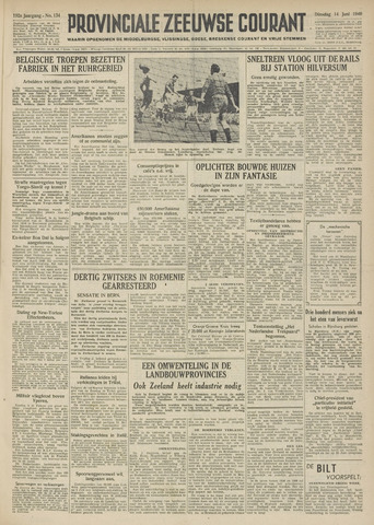 Provinciale Zeeuwse Courant 1949-06-14