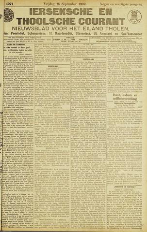 Ierseksche en Thoolsche Courant 1932-09-16
