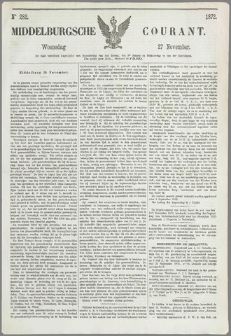 Middelburgsche Courant 1872-11-27