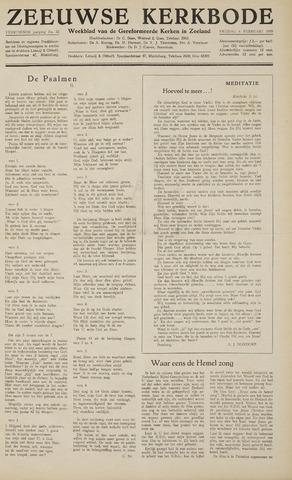 Zeeuwsche kerkbode, weekblad gewijd aan de belangen der gereformeerde kerken/ Zeeuwsch kerkblad 1959-02-06