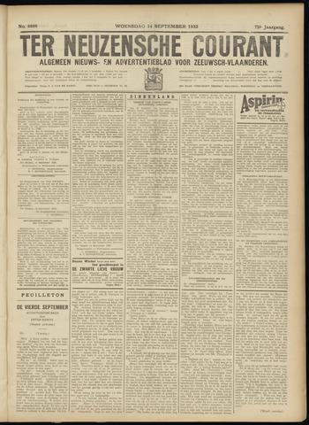 Ter Neuzensche Courant. Algemeen Nieuws- en Advertentieblad voor Zeeuwsch-Vlaanderen / Neuzensche Courant ... (idem) / (Algemeen) nieuws en advertentieblad voor Zeeuwsch-Vlaanderen 1932-09-14