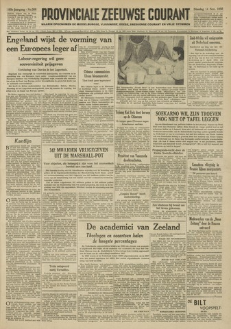 Provinciale Zeeuwse Courant 1950-11-14