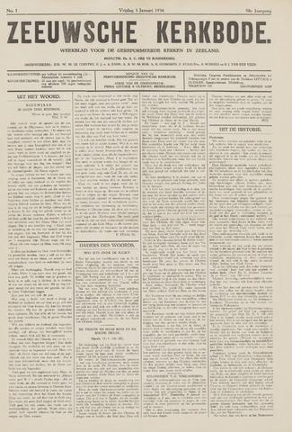Zeeuwsche kerkbode, weekblad gewijd aan de belangen der gereformeerde kerken/ Zeeuwsch kerkblad 1936