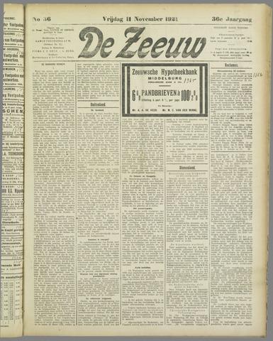 De Zeeuw. Christelijk-historisch nieuwsblad voor Zeeland 1921-11-11