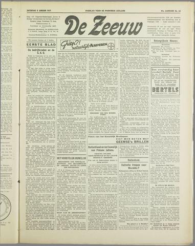 De Zeeuw. Christelijk-historisch nieuwsblad voor Zeeland 1937-01-09