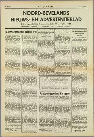 Noord-Bevelands Nieuws- en advertentieblad 1954-04-03