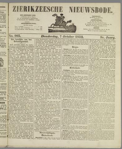 Zierikzeesche Nieuwsbode 1852-10-07