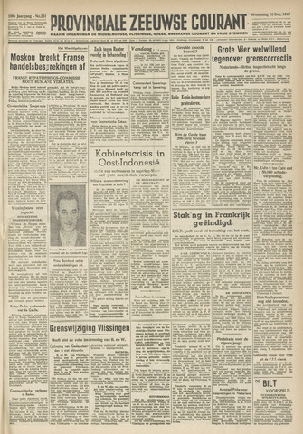 Provinciale Zeeuwse Courant 1947-12-10