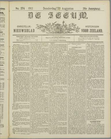 De Zeeuw. Christelijk-historisch nieuwsblad voor Zeeland 1912-08-22