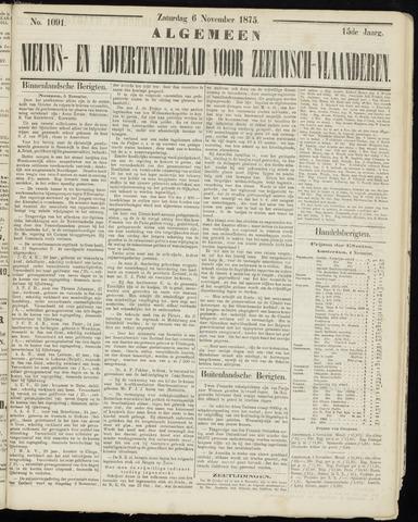 Ter Neuzensche Courant. Algemeen Nieuws- en Advertentieblad voor Zeeuwsch-Vlaanderen / Neuzensche Courant ... (idem) / (Algemeen) nieuws en advertentieblad voor Zeeuwsch-Vlaanderen 1875-11-06