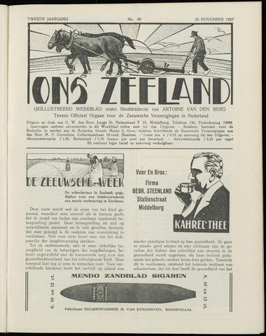 Ons Zeeland / Zeeuwsche editie 1927-11-26