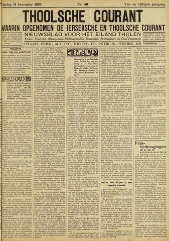 Ierseksche en Thoolsche Courant 1936-12-11