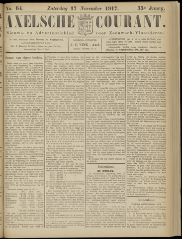 Axelsche Courant 1917-11-17