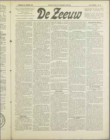 De Zeeuw. Christelijk-historisch nieuwsblad voor Zeeland 1934-10-31