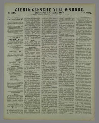 Zierikzeesche Nieuwsbode 1888-11-01