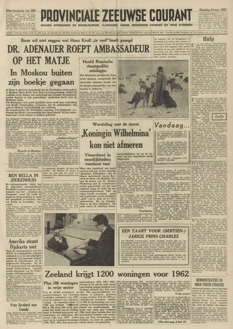 Provinciale Zeeuwse Courant 1961-11-14
