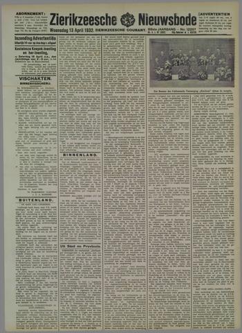 Zierikzeesche Nieuwsbode 1932-04-13