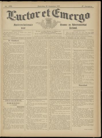 Luctor et Emergo. Antirevolutionair nieuws- en advertentieblad voor Zeeland / Zeeuwsch-Vlaanderen. Orgaan ter verspreiding van de christelijke beginselen in Zeeuwsch-Vlaanderen 1917-08-18