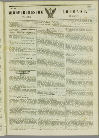 Middelburgsche Courant 1847-08-19