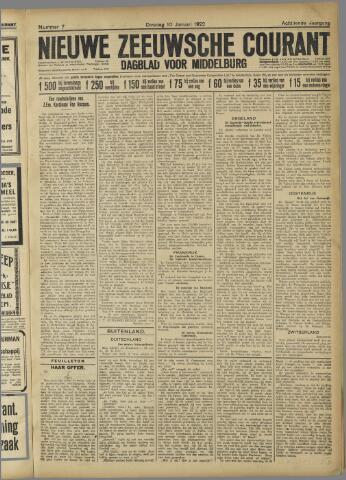 Nieuwe Zeeuwsche Courant 1922-01-10