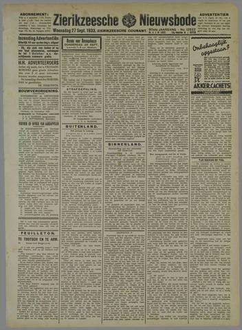 Zierikzeesche Nieuwsbode 1933-09-27