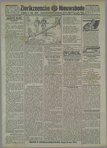 Zierikzeesche Nieuwsbode 1934-08-03