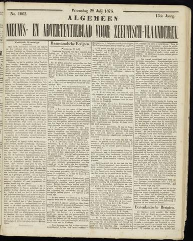 Ter Neuzensche Courant. Algemeen Nieuws- en Advertentieblad voor Zeeuwsch-Vlaanderen / Neuzensche Courant ... (idem) / (Algemeen) nieuws en advertentieblad voor Zeeuwsch-Vlaanderen 1875-07-28