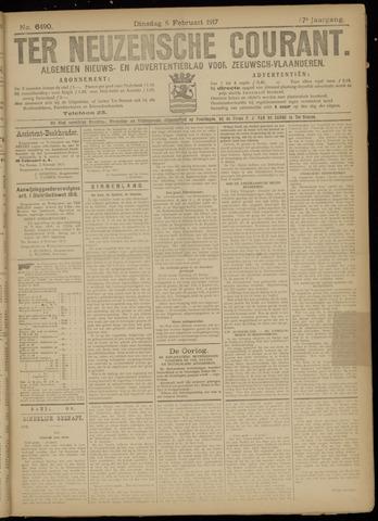 Ter Neuzensche Courant. Algemeen Nieuws- en Advertentieblad voor Zeeuwsch-Vlaanderen / Neuzensche Courant ... (idem) / (Algemeen) nieuws en advertentieblad voor Zeeuwsch-Vlaanderen 1917-02-06