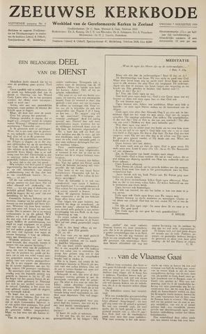 Zeeuwsche kerkbode, weekblad gewijd aan de belangen der gereformeerde kerken/ Zeeuwsch kerkblad 1959-08-07