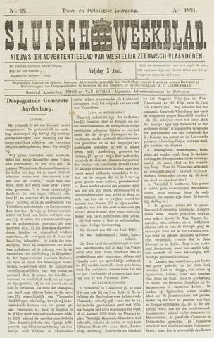 Sluisch Weekblad. Nieuws- en advertentieblad voor Westelijk Zeeuwsch-Vlaanderen 1881-06-03