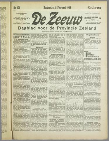 De Zeeuw. Christelijk-historisch nieuwsblad voor Zeeland 1929-02-21