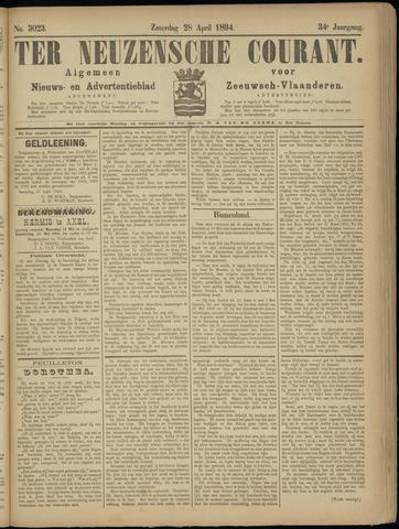 Ter Neuzensche Courant. Algemeen Nieuws- en Advertentieblad voor Zeeuwsch-Vlaanderen / Neuzensche Courant ... (idem) / (Algemeen) nieuws en advertentieblad voor Zeeuwsch-Vlaanderen 1894-04-28