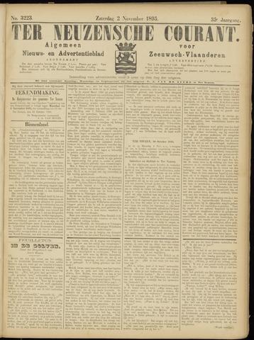 Ter Neuzensche Courant. Algemeen Nieuws- en Advertentieblad voor Zeeuwsch-Vlaanderen / Neuzensche Courant ... (idem) / (Algemeen) nieuws en advertentieblad voor Zeeuwsch-Vlaanderen 1895-11-02