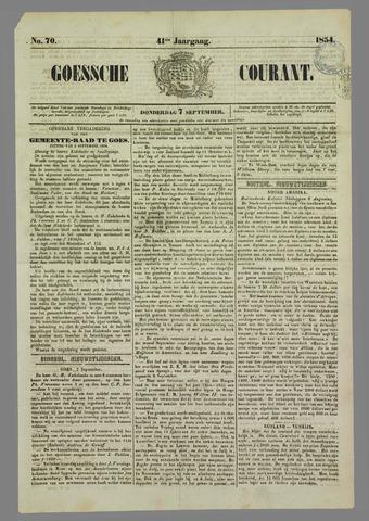 Goessche Courant 1854-09-07