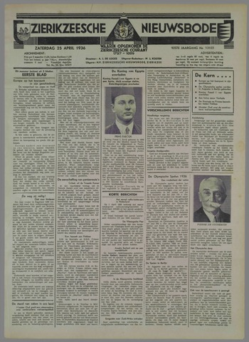 Zierikzeesche Nieuwsbode 1936-04-25