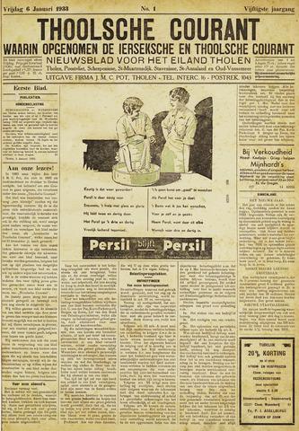 Ierseksche en Thoolsche Courant 1933