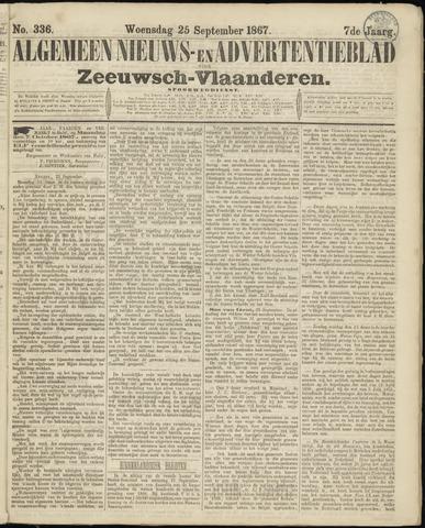 Ter Neuzensche Courant. Algemeen Nieuws- en Advertentieblad voor Zeeuwsch-Vlaanderen / Neuzensche Courant ... (idem) / (Algemeen) nieuws en advertentieblad voor Zeeuwsch-Vlaanderen 1867-09-25