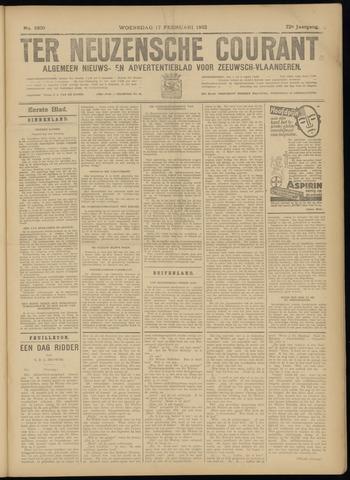 Ter Neuzensche Courant. Algemeen Nieuws- en Advertentieblad voor Zeeuwsch-Vlaanderen / Neuzensche Courant ... (idem) / (Algemeen) nieuws en advertentieblad voor Zeeuwsch-Vlaanderen 1932-02-17