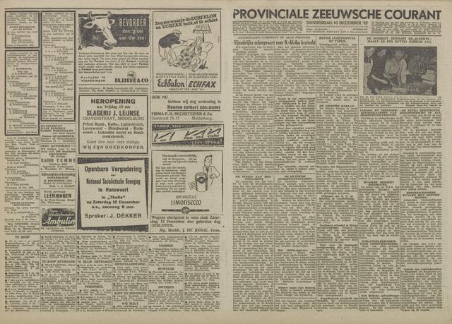Provinciale Zeeuwse Courant 1942-12-10