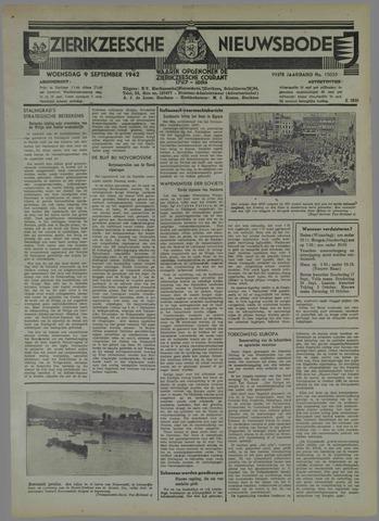 Zierikzeesche Nieuwsbode 1942-09-09