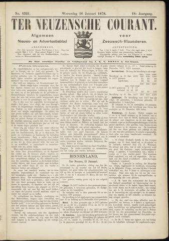 Ter Neuzensche Courant. Algemeen Nieuws- en Advertentieblad voor Zeeuwsch-Vlaanderen / Neuzensche Courant ... (idem) / (Algemeen) nieuws en advertentieblad voor Zeeuwsch-Vlaanderen 1878-01-16