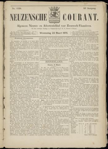 Ter Neuzensche Courant. Algemeen Nieuws- en Advertentieblad voor Zeeuwsch-Vlaanderen / Neuzensche Courant ... (idem) / (Algemeen) nieuws en advertentieblad voor Zeeuwsch-Vlaanderen 1876-03-22