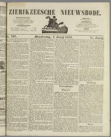 Zierikzeesche Nieuwsbode 1851-06-05