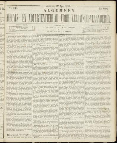 Ter Neuzensche Courant. Algemeen Nieuws- en Advertentieblad voor Zeeuwsch-Vlaanderen / Neuzensche Courant ... (idem) / (Algemeen) nieuws en advertentieblad voor Zeeuwsch-Vlaanderen 1873-04-19